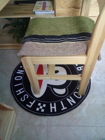 卡通正圆形地毯厚电脑椅防滑垫转椅吊篮吊椅摇椅藤椅鸟巢帐篷地垫包邮 粉乔巴3D 直径200厘米圆 晒单图