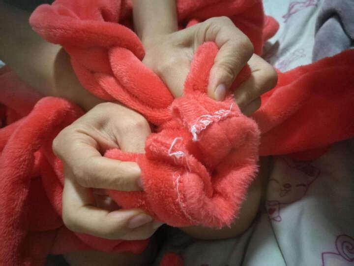 慕莉娜 秋冬加厚睡袍睡衣女法兰绒长袖浴袍珊瑚绒家居服  80斤-140斤可穿 大红色 M码 晒单图