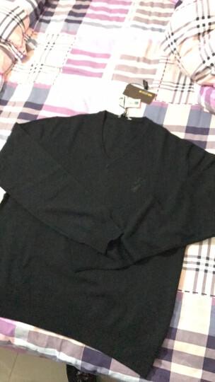 VERSACE范思哲男士V领针织毛衫毛衣多色可选V700472S羊毛材质建议干洗 浅灰色 XL 晒单图