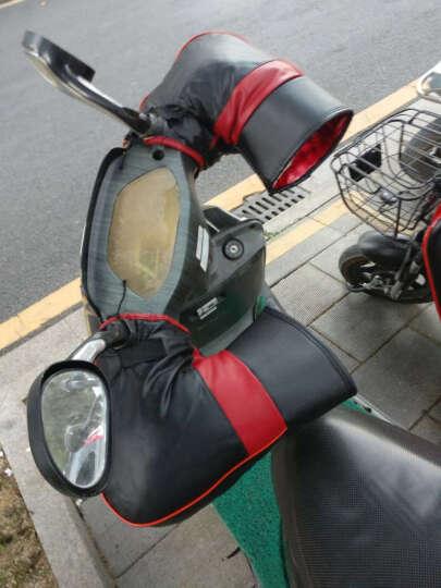 双牌 摩托车把套冬天防寒加厚保暖电瓶车电动车手把套皮革防风防水 通用款 晒单图