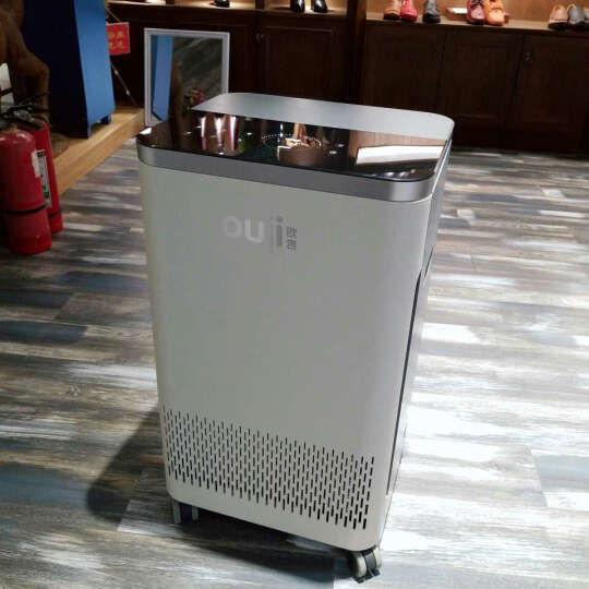 OUJI欧吉 空气净化器家用除甲醛雾霾加湿负离子新风LY-809 银白色 晒单图