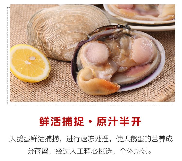 鲜活捕捉·原汁半开天鹅蛋鲜活捕捞,进行速冻处理,使天鹅蛋的营养成分存留,经过人工精心挑选,个体均匀。-推好价 | 品质生活 精选好价