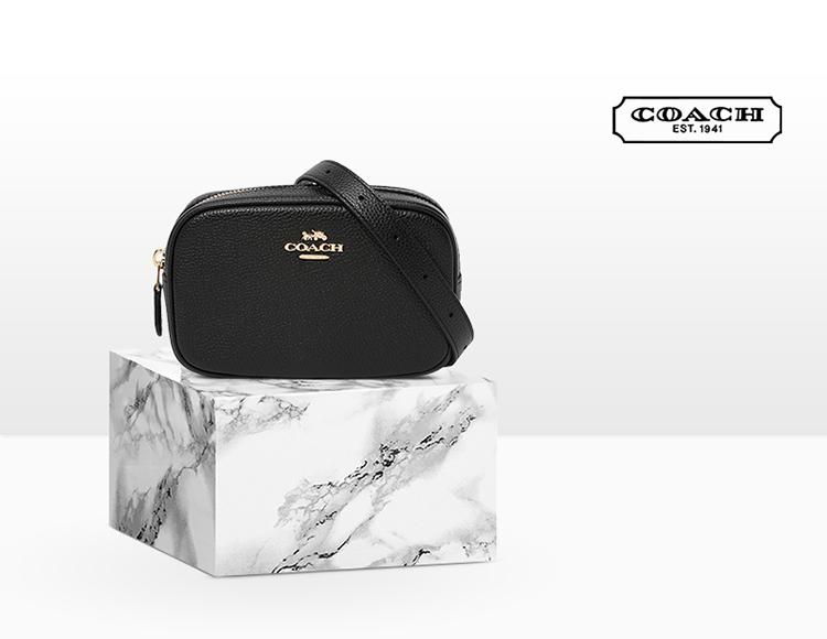 COACH 蔻驰 39938 抛光粒面 女式挎包 腰包 手拿包 下单5折后¥549.5 PLUS会员还可95折