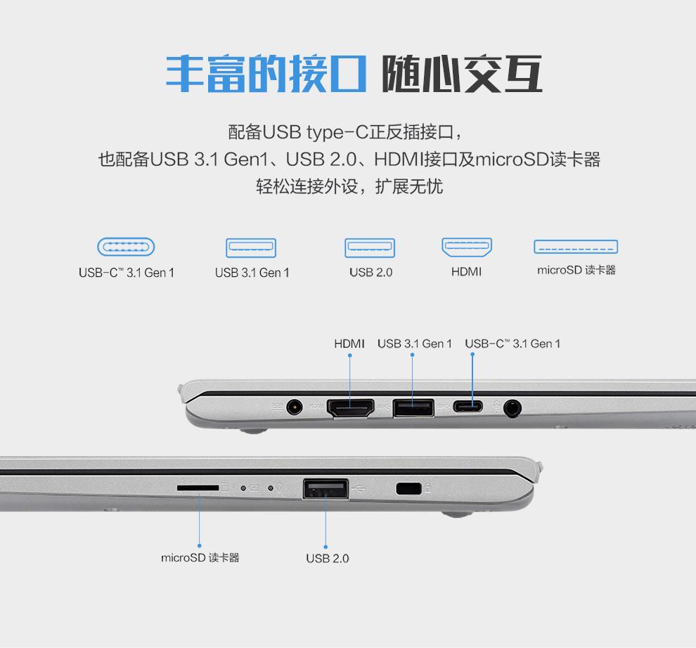 王富的接囗胞N交互配备∪ SB type-C正反插接口,也配备∪SB3.1Gen1、USB2.0、HDM接囗及 microsD读卡器轻松连接外设,扩展无忧USB-C 3.1 Gen 1USB 3.1 Gen 1USB 2.0microSD读卡器HDMI USB 3.1 Gen 1 USB-C31 Gen 1microsD读卡器USB 2.0-推好价 | 品质生活 精选好价