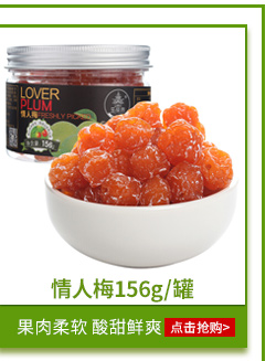 五分文 蜜饯果干果脯零食 情人梅156g/罐-京东