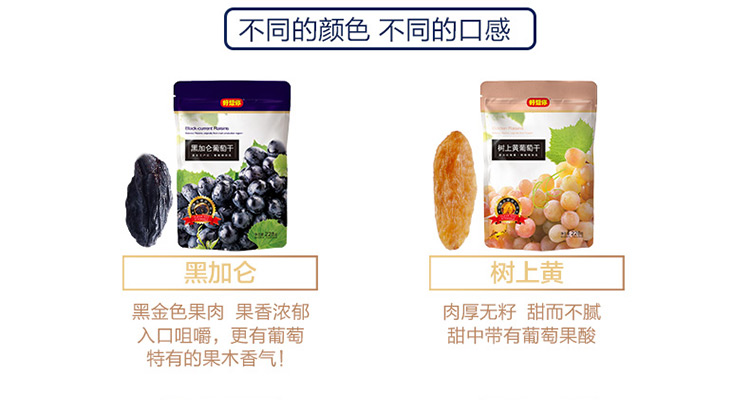 好想你 休闲零食 新疆特产 蜜饯果干 黑加仑葡萄干228g/袋
