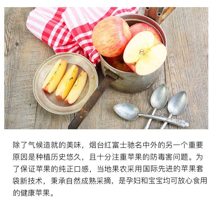 烟台红富士苹果 12个 净重2.6kg以上 单果190-240g 新鲜水果 圣诞平安果