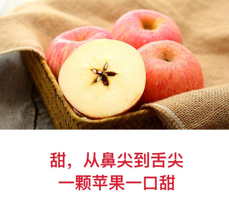 宏辉果蔬 烟台红富士苹果 12个 净重2.1kg以上 单果160-190g 一二级混装 自营水果