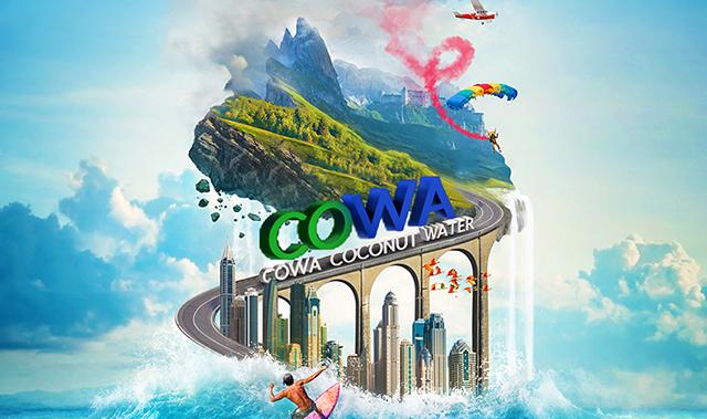 马来西亚进口COWA清甜椰子水330ml*12瓶  NFC果汁饮料 整箱椰水椰汁