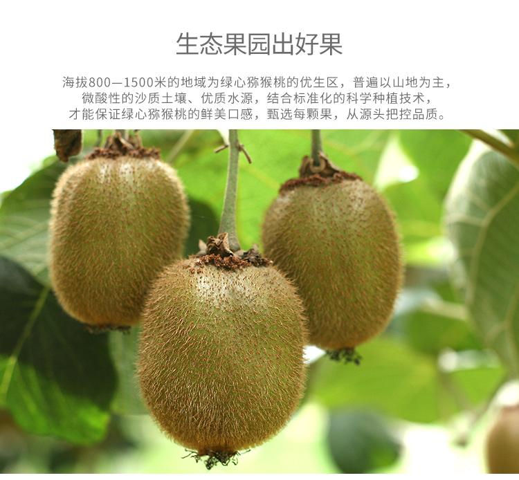 爱奇果 陕西眉县 徐香绿心猕猴桃 12个 单果80-95g 新鲜水果