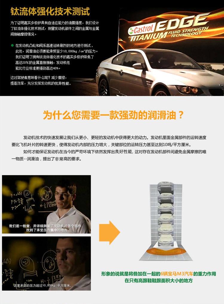 嘉实多(Castrol)机油 极护钛流体全合成 发动机润滑油...-京东