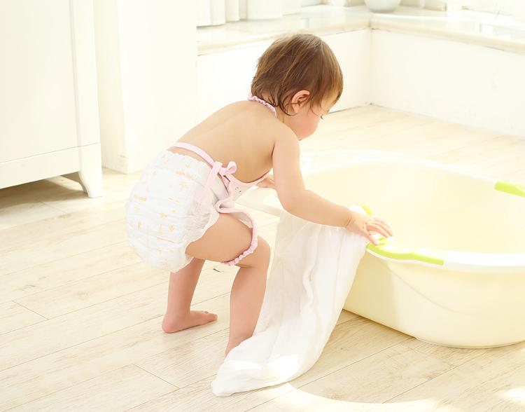 象宝宝 elepbaby 婴儿浴巾 全棉水洗纱布儿童浴巾6层加大110X90CM 图片