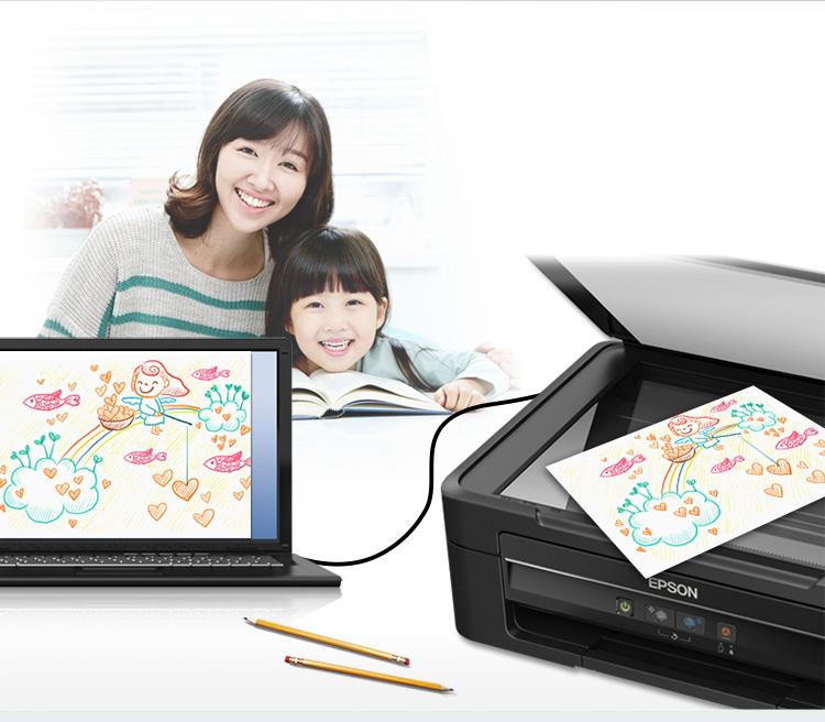 爱普生(EPSON)L380 墨仓式 打印机一体机 (打印 复印 扫描)-京东