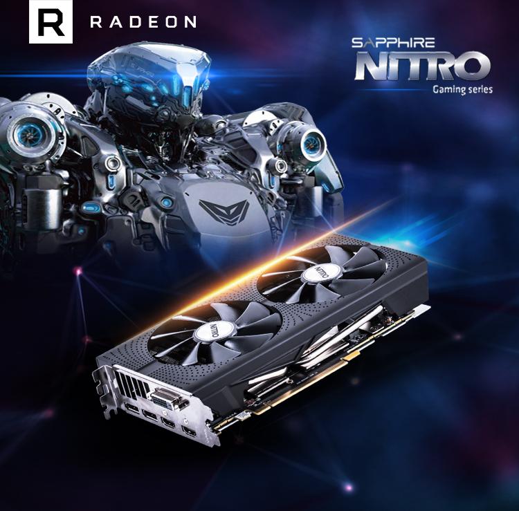 蓝宝石(Sapphire)RX470 4G D5 海外版 OC 1236MHz/7000MHz 4GB/256bit GDDR5 DX12游戏显卡 玩转单机网游-我们