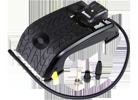 米其林 脚踏式充气泵 数显夜视胎压计 汽车用轮胎打气泵 充气...-京东