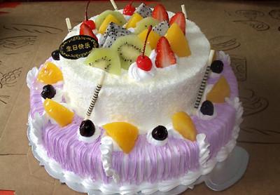 双层鲜奶生日蛋糕图片 双层鲜奶蛋糕图片大全 双层鲜奶蛋糕图片