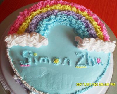 价值129元的叮当猫蛋糕坊12寸DIY水果夹层蛋糕1个 12寸蛋糕胚 水果