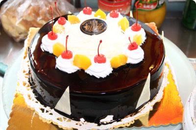 8寸欧式水果蛋糕1个 京品惠齐齐哈尔站