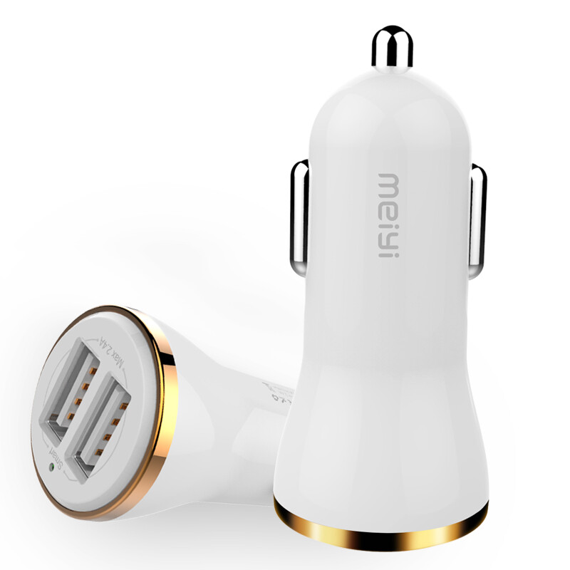 MEIYI 2 USB Output Car Charger 2.4A max(Real) Fast Charge For Iphone 6s 6 plus SE for Samsung S6 S5 S4 mobile phones tablets