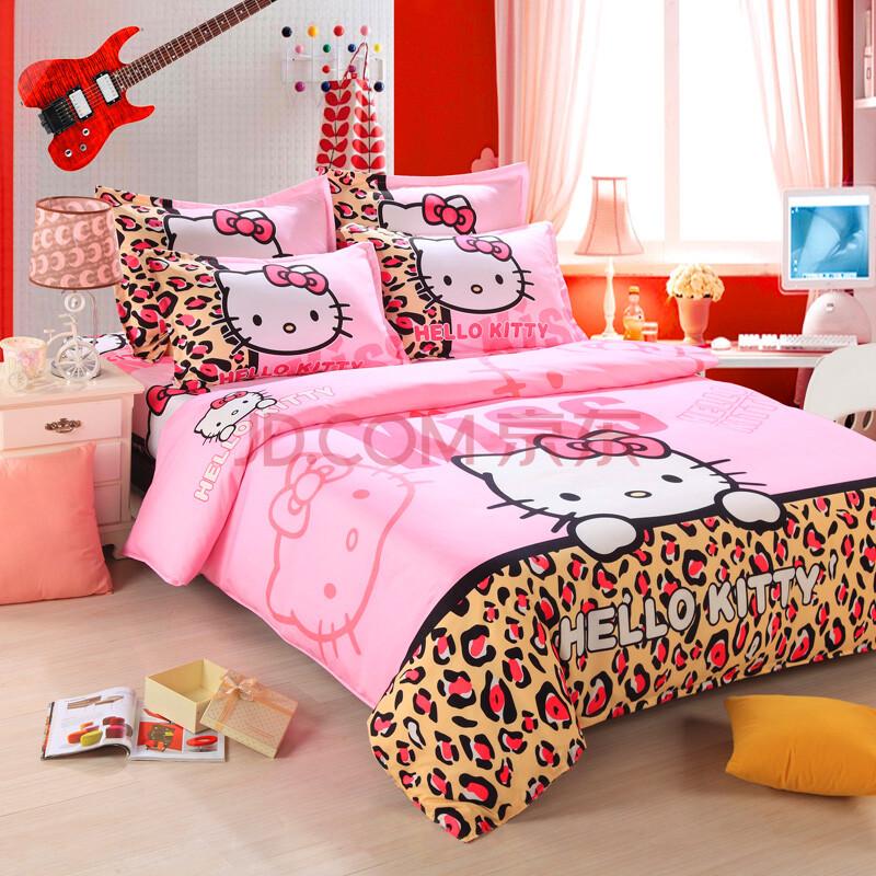 cute cartoon 4pcs bedding set for adult children bed linen w