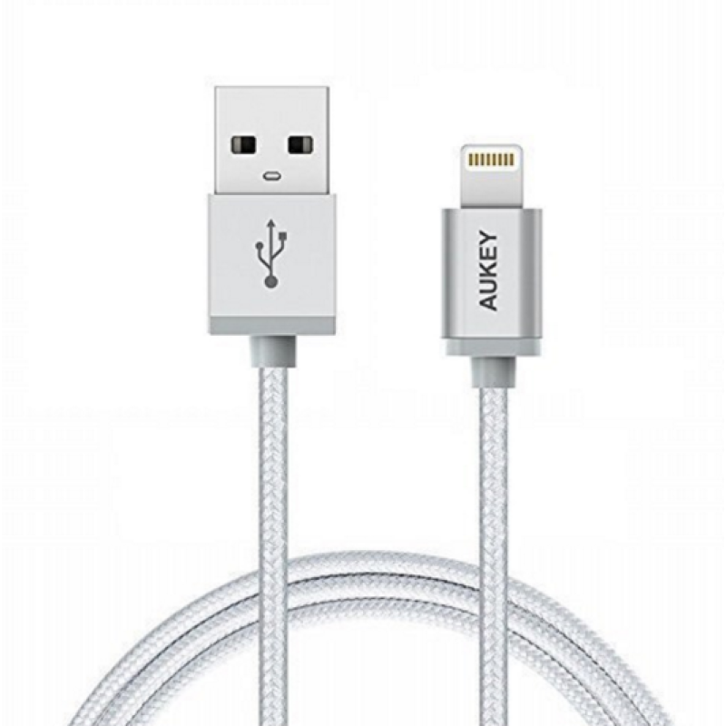 AUKEY Lightning Cable, 3.95ft Apple Certified & Nylon Braided Cable for iPhone5s, iPhone6, iphone6s, iPad, and More