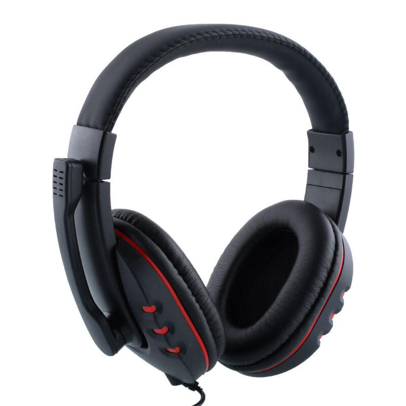 new Gaming Headset for_PS4 with Microphone Voice Control wired Headphones/headset HI-FI sound quality Black+Red Retro Best Price A