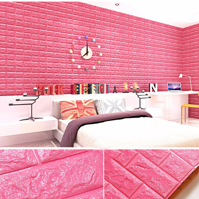 MyMei C0445-GN 3d Brick Pattern Wallpaper Bedroom Living Room Modern ...