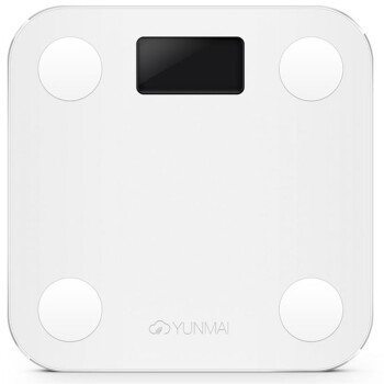 YUNMAI M1501 Light Mini Body Fat Scale/Health Scale/Electrionic Scale Smart Scale/Weight Scale White