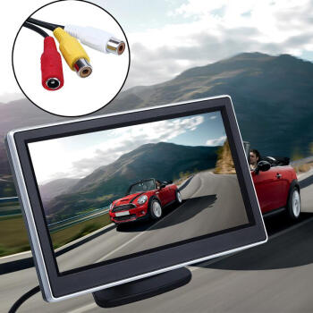 5 Inch LCD Screen Display Auto Car Vehicles DVD VCR Player Rearview Cameras Reverse Monitor