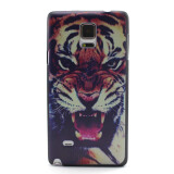 Phone Accessories-Gothic Pattern Phone Case Cover Ptotective Skin for Galaxy Note 4 N9100 - Tiger on JD