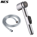 Kitchen & Bath Fixtures-KES LP900 Toilet Hand Held Bidet Shattaf Cloth Diaper Sprayer with Extra Long Hose and Bracket Holder, Chrome on JD
