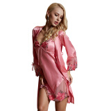 Lingerie, Sleep & Lounge-Save $10-$20 with JD777 XIFENNI Women's Home Clothing Robe Gown Sets Sleep Lounge Good Quality Sexy Satin New Aarrival 2015 on JD
