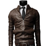 Jackets & Coats-Zogaa Men's Leather Clothing Fashion Short Slim Stand Callar Casual Washing on JD