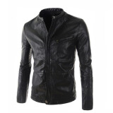 Jackets & Coats-Zogaa New Men's Leather Slim on JD