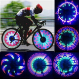 Cycling-32 LED Patterns Cycling Bikes Bicycles Rainbow Wheel Signal Tire Spoke Light on JD