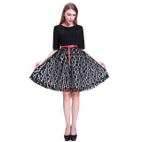 Dresses-2015 Autumn Lace Dress Leave Two Princess Was Thin Cover Belly Black Dress Swing Type A word Tutu on JD