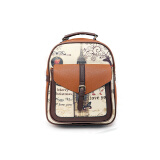 Luggage & Bags-New fashion women leather backpack vintage printing shoulder bag for teenage girls school bags casual travel outdoor backpack student bag on JD