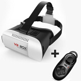 Vitual Reality & 3D Glasses-VR BOX Virtual Reality VR 3D Glasses 3D Helmet Phone Glasses for 4.7'-6' Smart Phones + Bluetooth Controller on JD