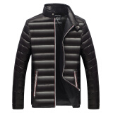 Jackets & Coats-Antarctic men 's 90 white duck cashmere business standing collar warm down jacket Y1601 black XL on JD