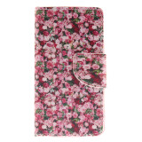Phone Accessories-Floral Design PU Leather Flip Cover Wallet Card Holder Case for LG Leon on JD