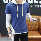 Hoodies-Fall new goods tide men 's hoodie clothing men' s casual fight color fashion youth sweater on JD