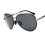 Men's Accessories-AORON Polarized Aviator Sunglasses Men Mirror Driver Black Color Good Quality New Arrival Man's Sun Glasses UV400 on JD