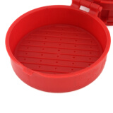 mymei New Red Cooking Tools Silicone Hamburger Press Burger Maker Barbecue Household Kitchen