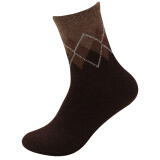 Nanjiren men's cotton casual socks, 10 pairs, 5 pairs solid color+5 pairs rhombus pattern