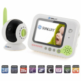 SUNLUXY 3.5 inch Color Video Wireless Baby Monitor IR Night Vision Security Camera