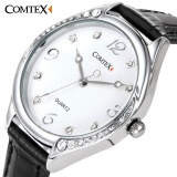 Comtex Brand Fashion Women Wrist Watch With White Dial Analogue Display Ladies Watch Waterproof Quartz Watch