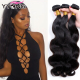 YYONG Virgin Brazilian Body Wave Hair Bundle Deals Unprocessed Virgin Brazilian Hair3 Bundles Brazlian Virgin Body Wave Hair
