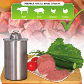 Kitchen & Dining Room-Ham Maker - Stainless Steel Meat Press for Making Healthy Homemade Deli Meat Tool with a Thermometer on JD