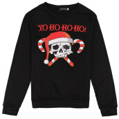 Sweatshirts-A man's autumn/winter hoodie has a pattern of skulls for Christmas day on JD