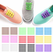 Shoe Accessories-1 Set 16pcs Creative Design Unisex Women Men Athletic Running No Tie Shoelaces Elastic Silicone Shoe Lace Sporting Very Convenient on JD